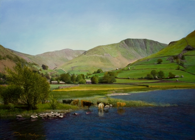 'Cattle Watering'.Brothers Water. Lake District