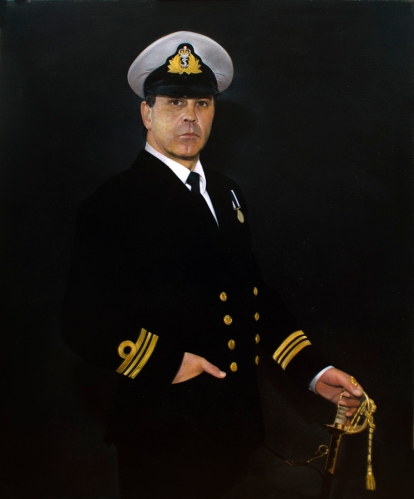 'Portrait of a Naval Officer' Oil on canvas