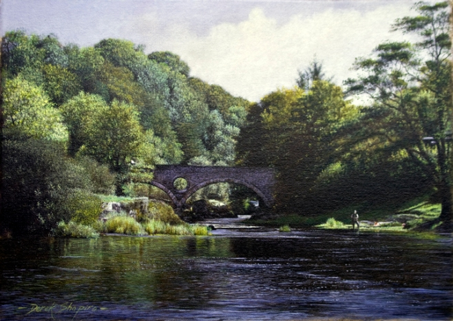 'The River Teifi', Cenarth Bridge' Camarthonshire