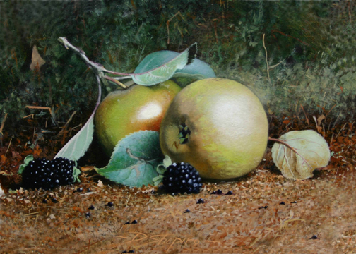 'Egremont Russet's' Oil on canvas 5 x 7 ins
