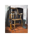 Limited edition artist signed still life print of an old country chair with a shotgun and a brace of pheasants.