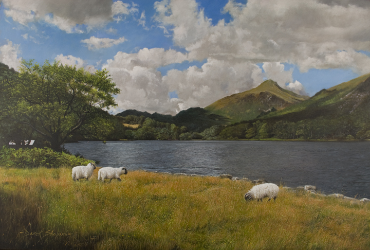 'Llyn Gwynant'. Nant Gwynant Valley. Snowdonia. North Wales. Oil on panel, 16 x 24 ins