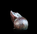 Bronze study of an Hedgehog sniffing the air