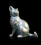 Bronze sculpture of a sitting Cat