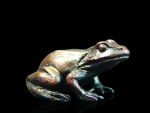 Bronze sculpture of a baby Frog sitting