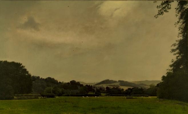 Landscape painting of a scene near Hathersage, Derbyshire