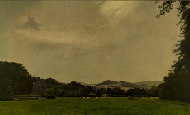 Landscape painting of a scene near Hathersage, Derbyshire