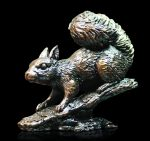 Bronze study of a Red Squirrel